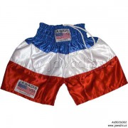 Boxing Trunks, Fitness, Training Shorts - Blue, White, Red (H) - Size XL