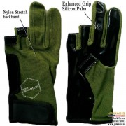Green newest best parkour gloves, fingerless freerunning gloves