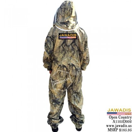 Jawadis Adult Full Bee Suit Seclusion 3D Open Country Camo