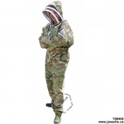 Camouflage Green Jawadis Adult Full Bee Suit with Fence Veil