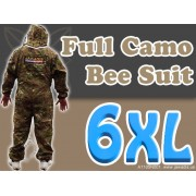 6XL Adult Full Bee Suit with Fence Veil - Camouflage Green