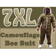 7XL Adult Full Bee Suit with Fence Veil - Camouflage Green