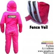 Jawadis Adult Fuchsia Beekeeping Bee Suit with Fence Veil - Christmas Gift