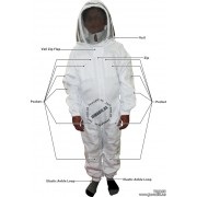Adult White Pest Control Beekeeping Suit with Fence Veil - Christmas Gift