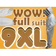 9XL Adult Full Bee Suit with Fence Style Veil - White