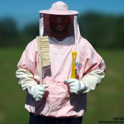 Adult Pullover Bee Jacket with Sheriff Round Veil - Pink - FREE Bee Gloves