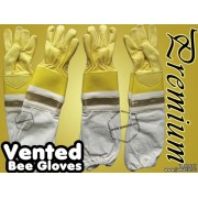 Adult Premium Ventilated Cowhide Bee Gloves - Yellow