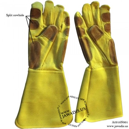 Adult Yellow Small Animal Handling Gloves, One Size L/XL