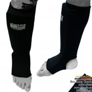 MMA, Sparring Cloth Shin Instep Guards - Black