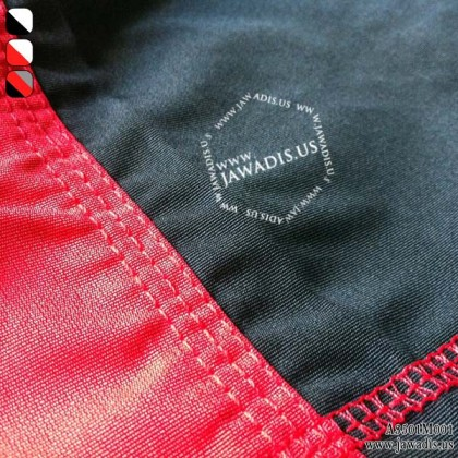 Jawadis Red & Black Fighter Wear MMA Grappling Kick Boxing Shorts