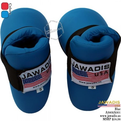Jawadis Blue MMA Sparring Boots Kickboxing Karate Foot Protection