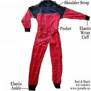 Adult Karting Race Suits and FREE Carrying Case - Red and Black, Size M - Christmas Gift