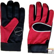 Multipurpose, Mechanic Type Utility Gloves Shade-of-Red - Size L