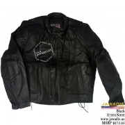 Adult leather biker jacket - Black - LAST ONE