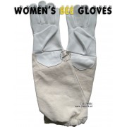 Women's Genuine Cowhide Leather Gloves for Beekeeping, and Gardening - White