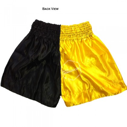 Adult Yellow & Black Professional Best Boxing Shorts Gym Trunks