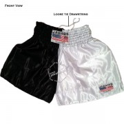 Adult Dual Black White Trainer Boxers Best Boxing Shorts Gym Trunks