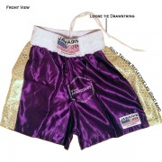 Adult Purple & Gold Pro Training Best Boxing Shorts Gym Trunks