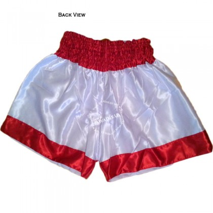Adult Red & White Training Boxers Best Boxing Shorts Gym Trunks