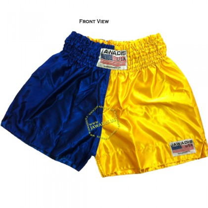 Adult Half Blue Yellow Training Boxers Best Boxing Shorts Gym Trunks
