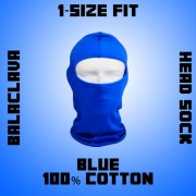 Blue Adult Balaclava Head Sock for Helmet Skiing Balclava 1-Size