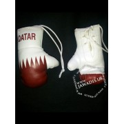 Mini Boxing Gloves - Qatar - Maroon