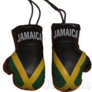 Mini Boxing Gloves - Jamaica Flag - Black