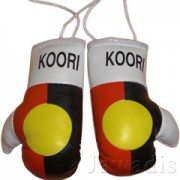 Mini Boxing Gloves - Koori Australian Aboriginal Flag