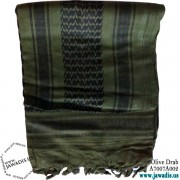 Shemagh Wrap, Keffiyeh, Military Head Scarf  - Olive Drab & Black
